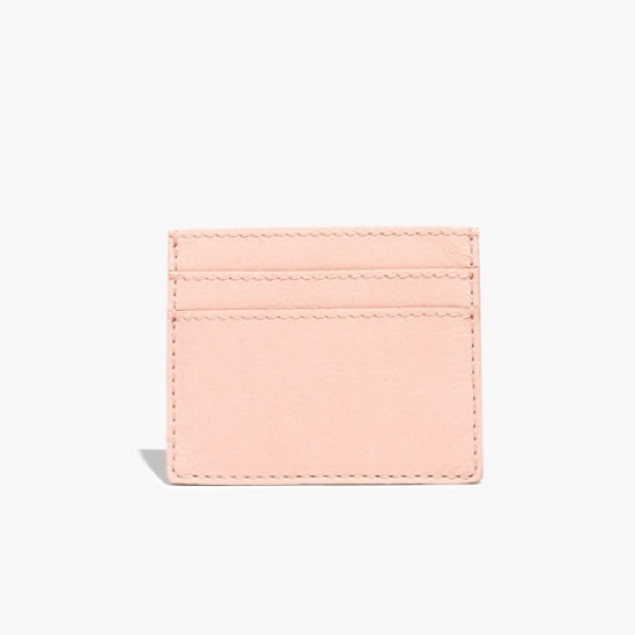 70862c8fc702 Madewell Bags | Nwt The Leather Card Case Sheer Pink | Poshmark
